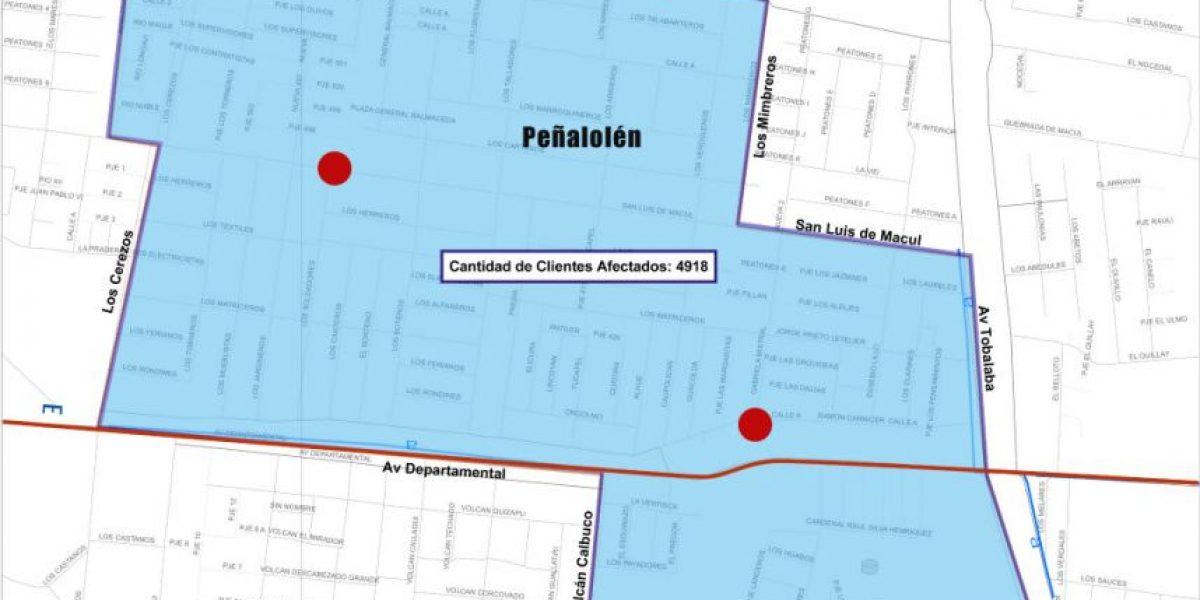 Nueva rotura de matriz de agua provocará corte del suministro en La Florida y Peñalolén