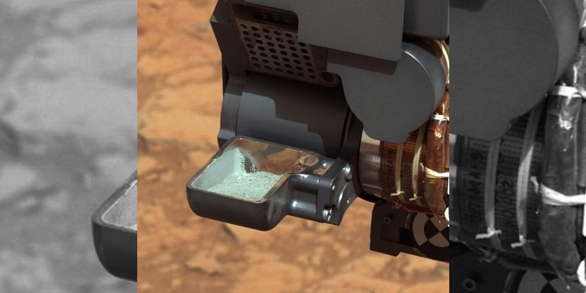 Curiosity encuentra roca gris bajo la superficie del Planeta Rojo