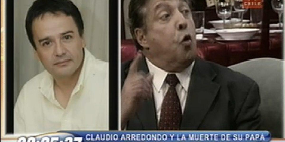 Claudio Arredondo confiesa que no era hijo de César: