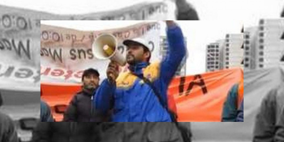Realizan velatón por dirigente sindical que apareció muerto de un balazo en su lugar de trabajo