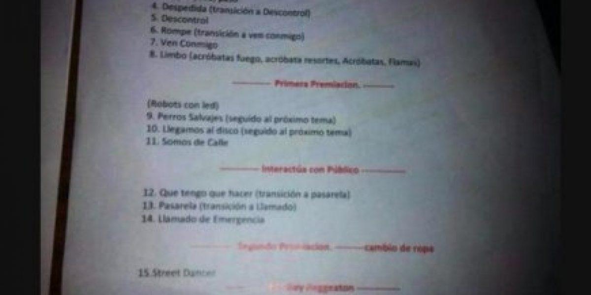 Filtran pauta de Daddy Yankee en medio de su show en Viña