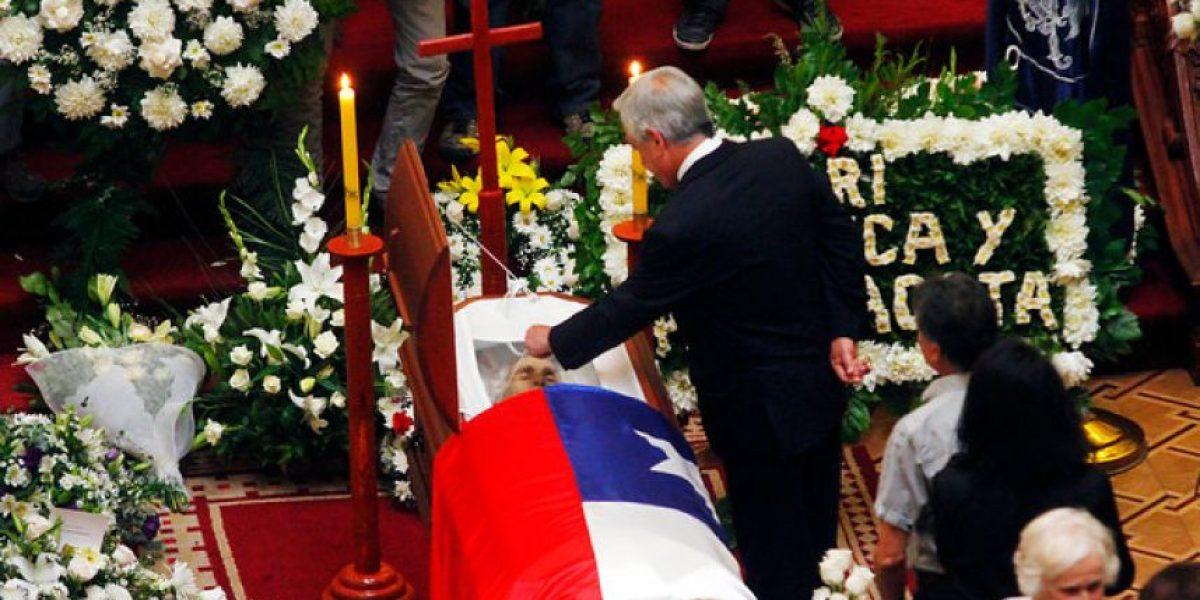 [FOTOS] Presidente Piñera llegó hasta el ex Senado para despedir a Adolfo Zaldívar