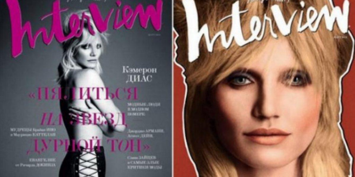 Cameron Diaz posa en topless para revista rusa