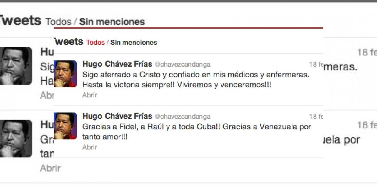 Este fue el último tuit de Hugo Chávez