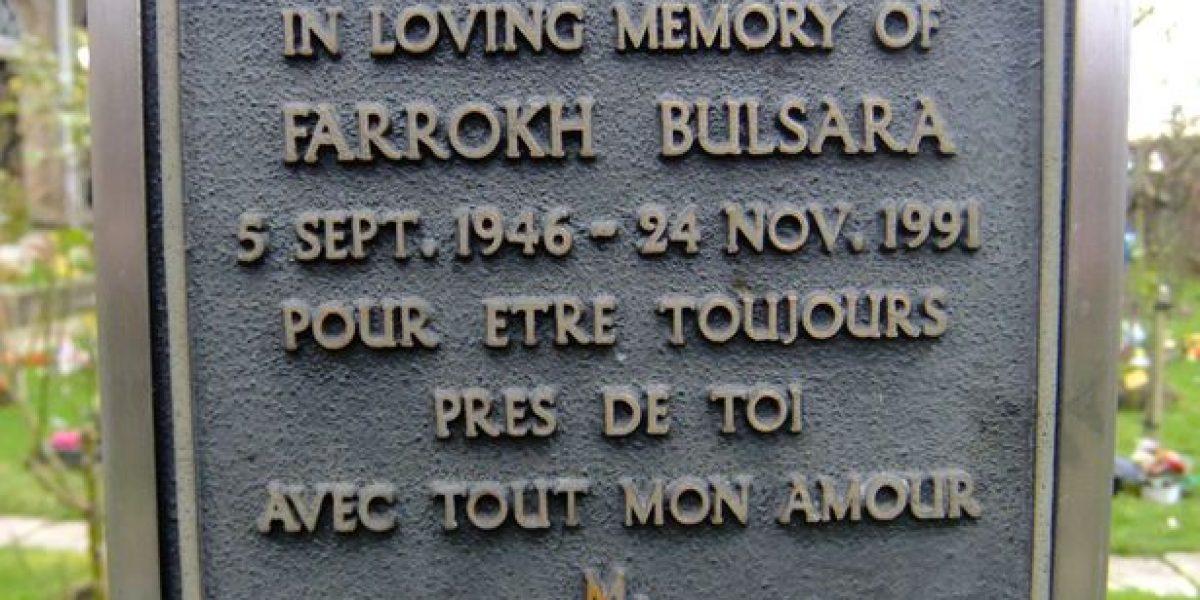 Freddie Mercury: Desaparece placa que podría revelar su tumba