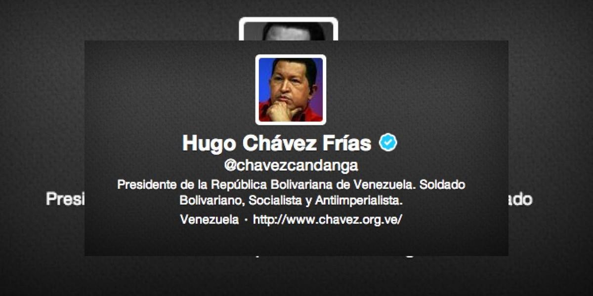 Cuenta de Chávez en Twitter queda huérfana con más de 4 millones de seguidores