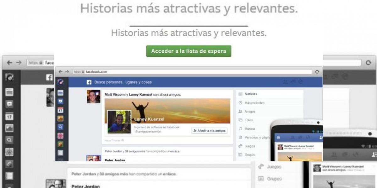 Así se puede acceder antes al nuevo diseño de Facebook