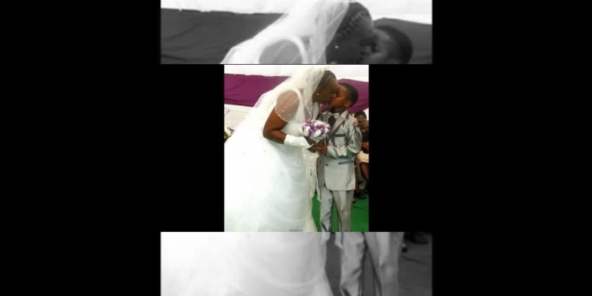 Conmoción genera el matrimonio de un niño de 8 años con una mujer de 61