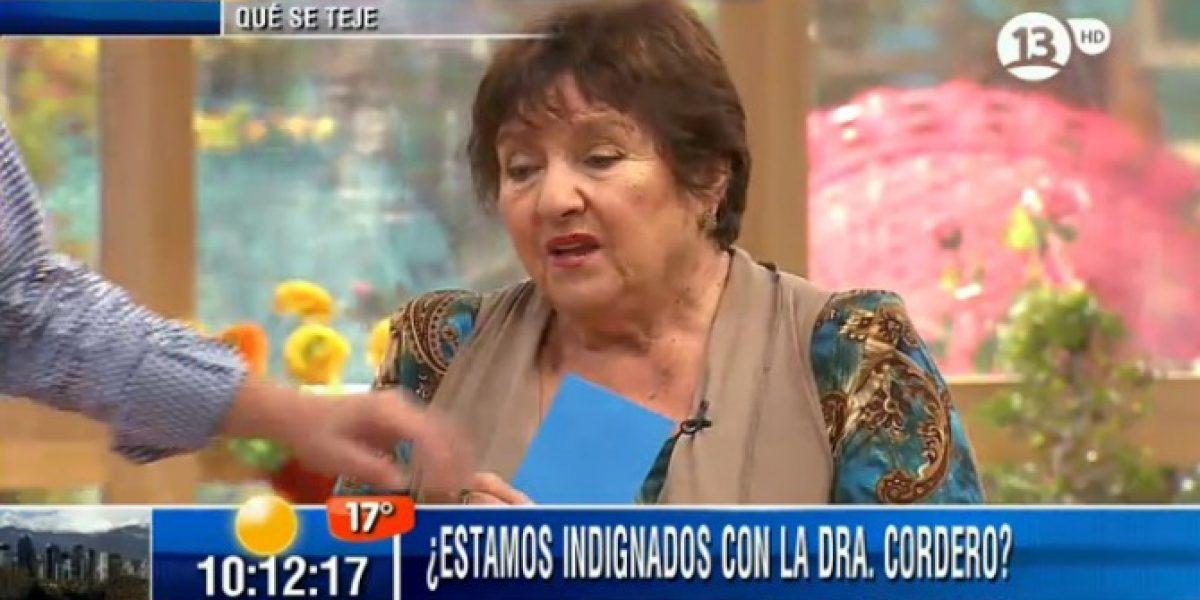Doctora Cordero confiesa estar
