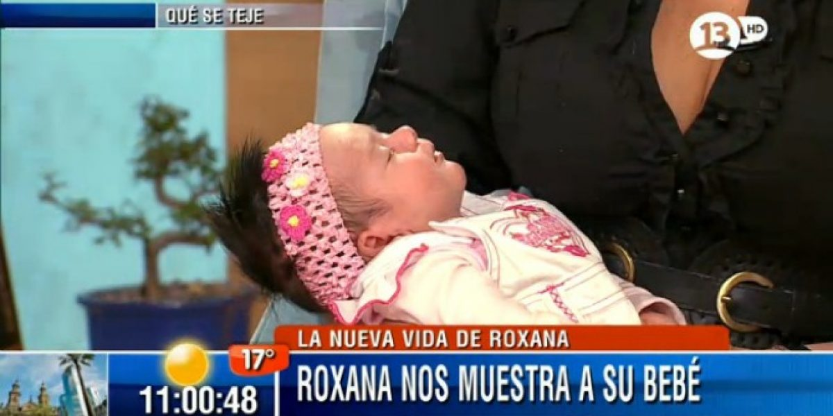 Roxana Muñoz presenta a su hija en