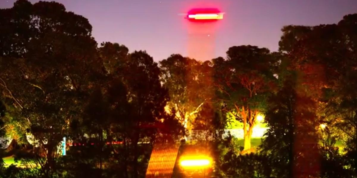 Russell Crowe sube imágenes de un supuesto OVNI