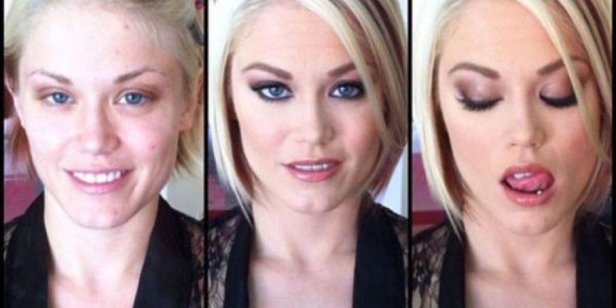 Actrices porno, antes y después del maquillaje