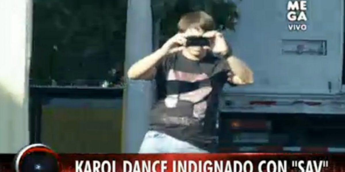 Karol Dance indignado por paparazzeo de