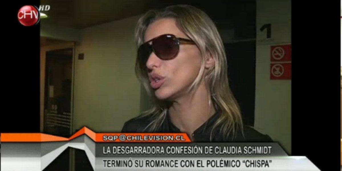 Claudia Schmidt admite que terminó su relación con