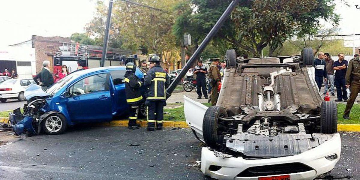 Mujer embarazada resulta con lesiones en accidente en Providencia