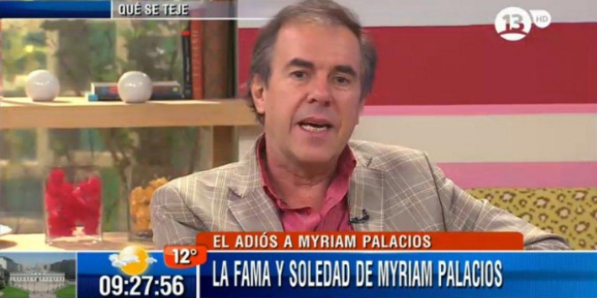 Cristián García Huidobro recuerda a Myriam Palacios: