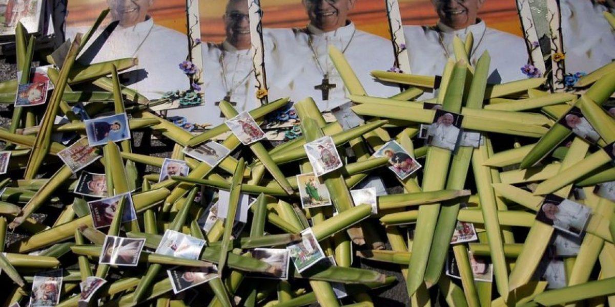 Fotos: Con imagen del Papa Francisco chilenos celebran Domingo de Ramos