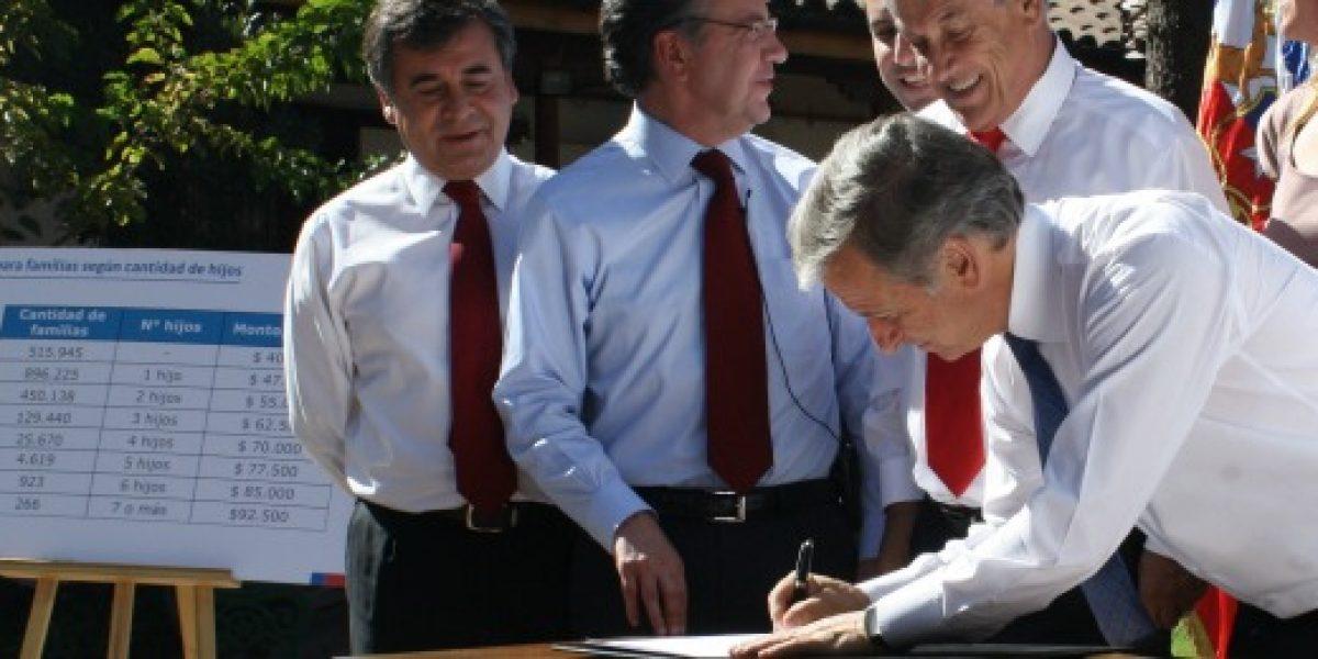 Presidente Sebastián Piñera promulga en