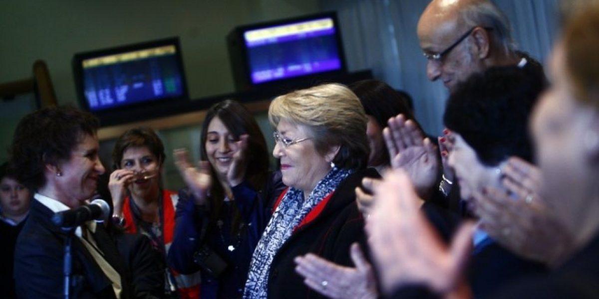 Galería: Así fue la llegada de Bachelet a Chile