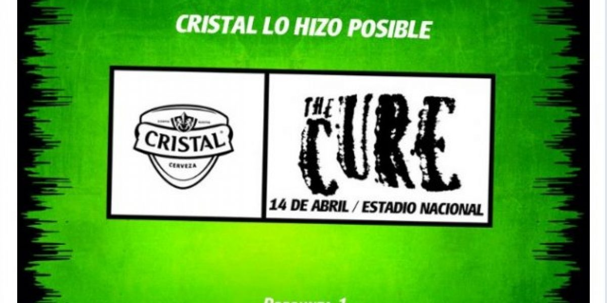 Regalarán 1000 entradas para The Cure mediante aplicación de Facebook