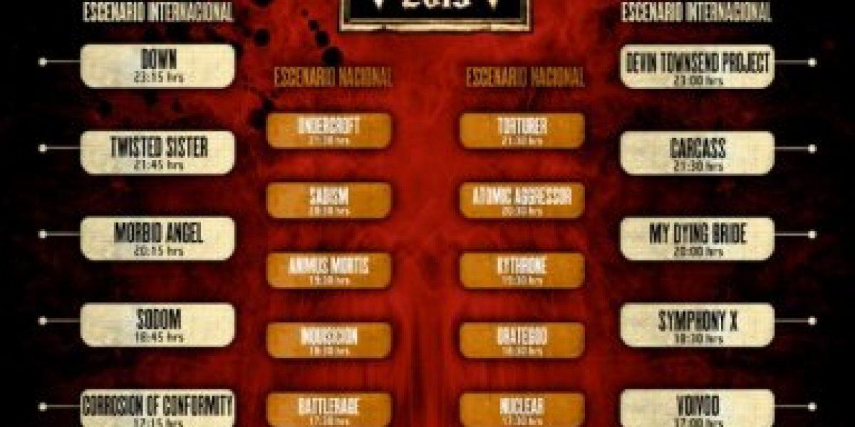 The Metal Fest anuncia Programación y horarios de bandas