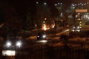 Incidentes leves en Lo Hermida Foto:Agencia Uno. Imagen Por: