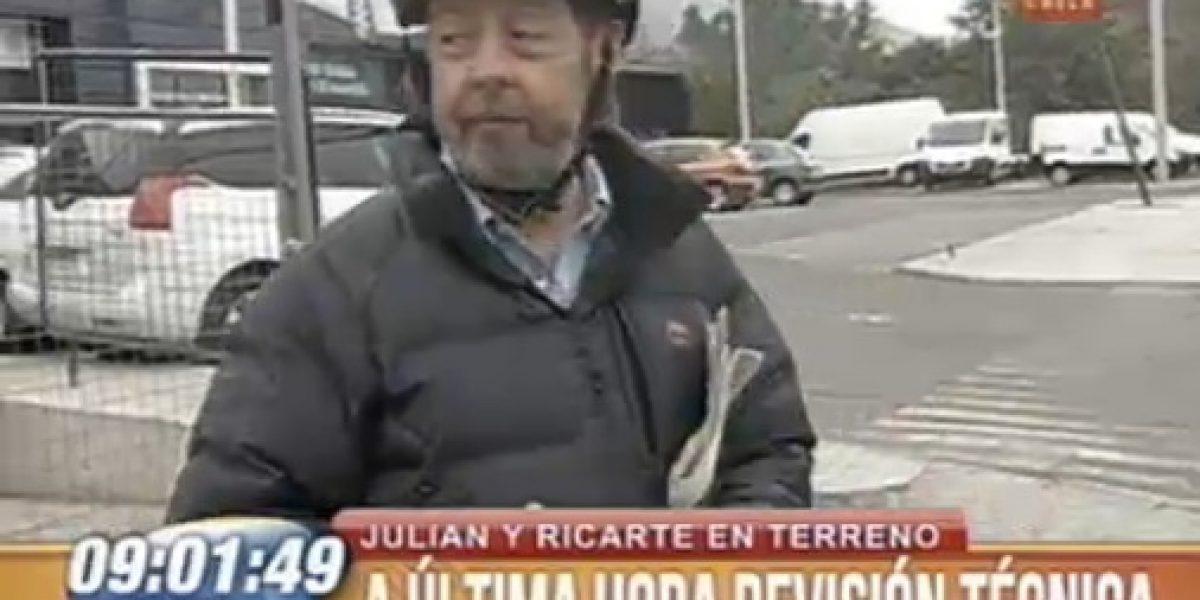 BDAT: Ricarte Soto salió a reportear con casco