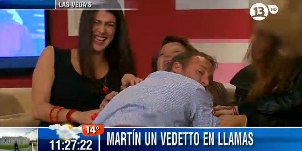 Martín Cárcamo termina en el suelo por bailar como vedetto