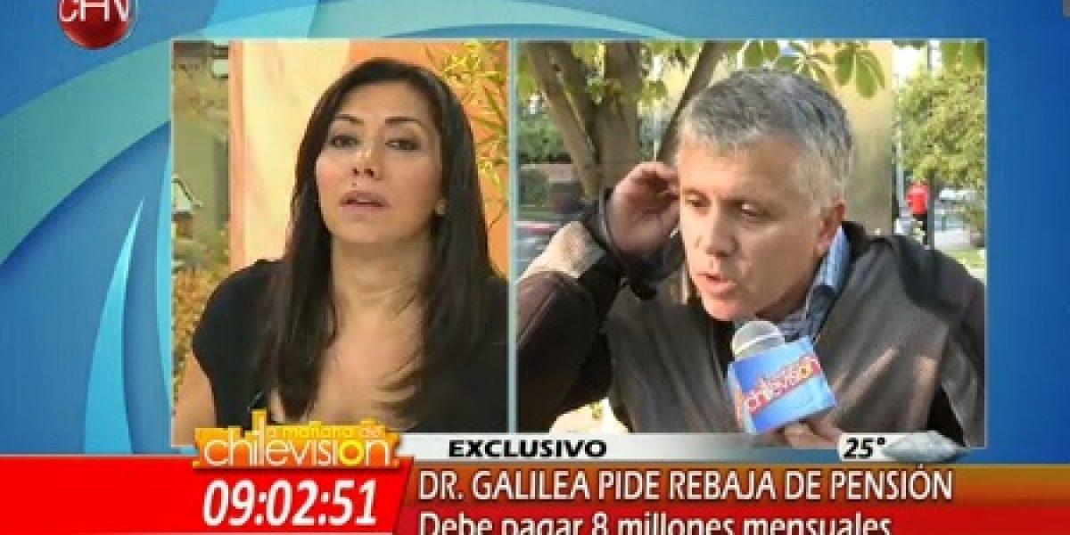 Dr. Galilea tiene fuerte discusión con