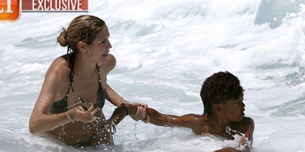 Heidi Klum evitó que su hijo se ahogara en una playa de Hawai