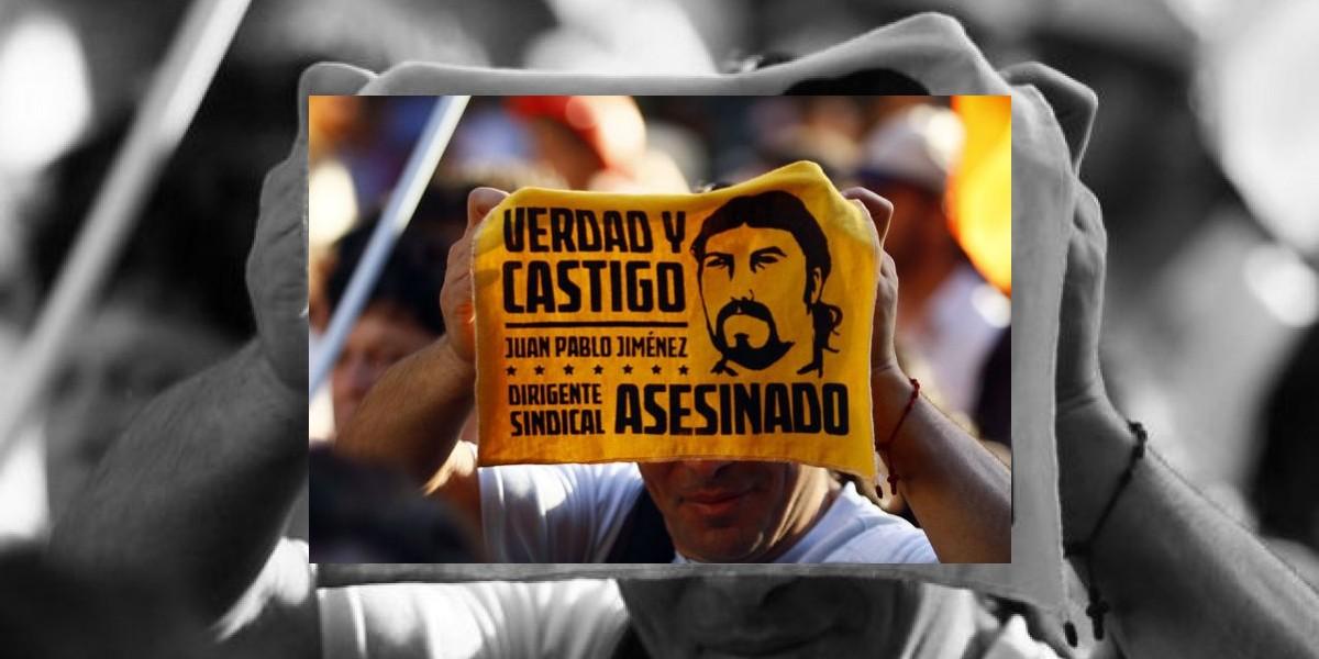 Detenido presunto autor de la muerte de sindicalista Juan Pablo Jiménez