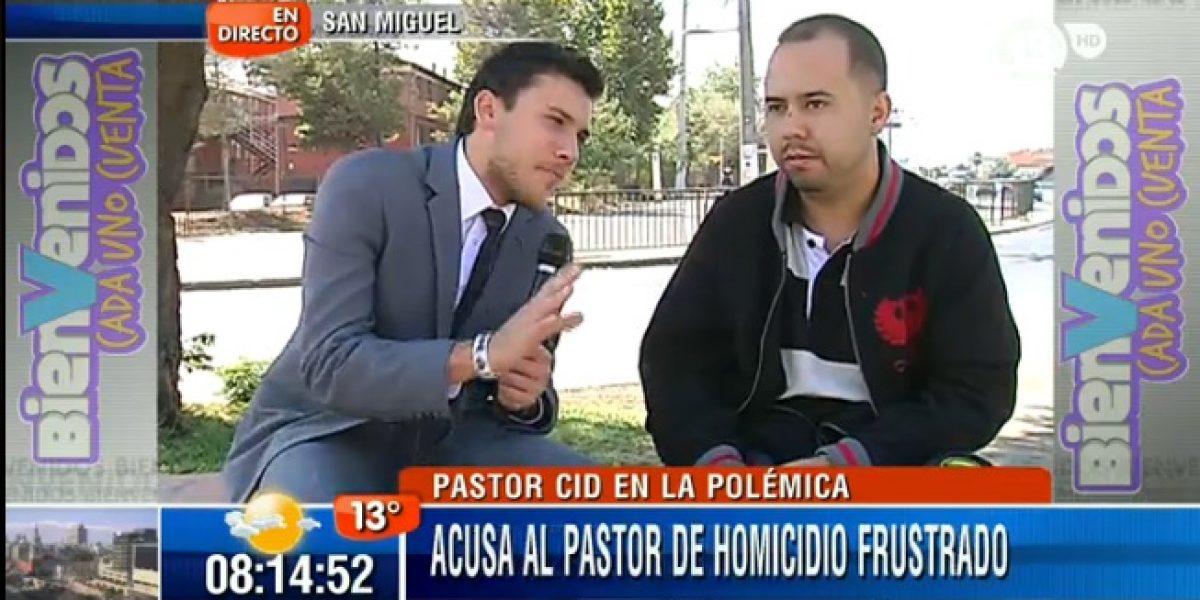 Hombre que acusa al Pastor Cid de intento de homicidio: