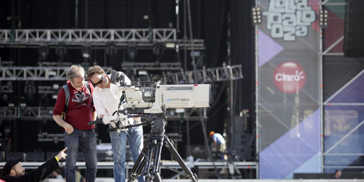 Así va el armado del escenario para Lollapalooza
