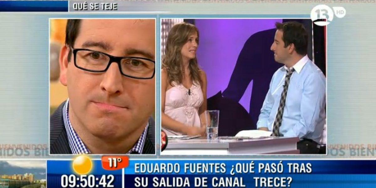 Eduardo Fuentes se emociona al recordar despedida de Diana Bolocco en