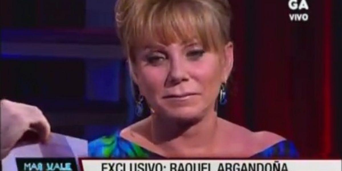 Raquel Argandoña ironiza con polémica de su hijo en