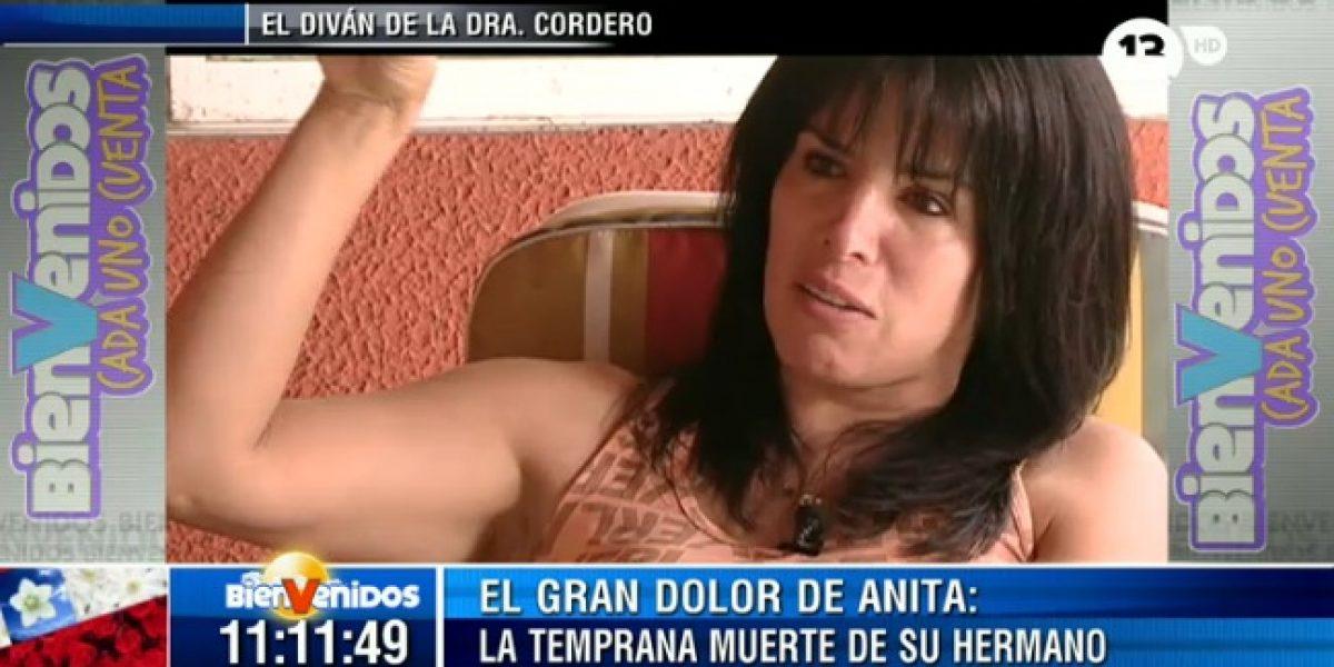 Anita Alvarado confesó su gran pena: la muerte de su hermano por la droga