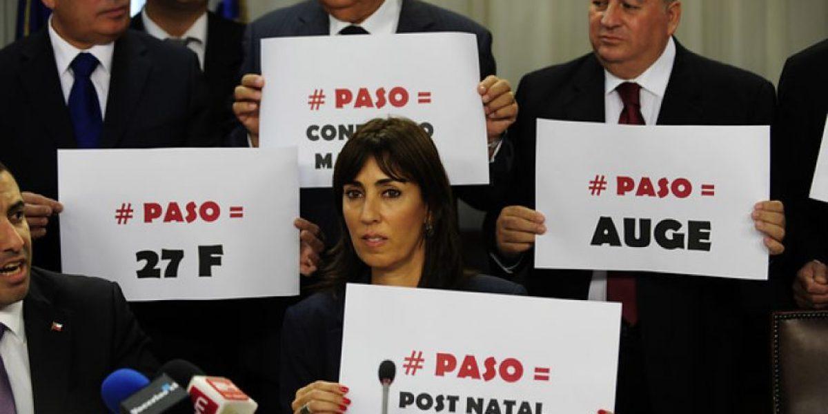 [FOTOS] Así criticaron parlamentarios UDI la gestión de la ex presidenta Bachelet