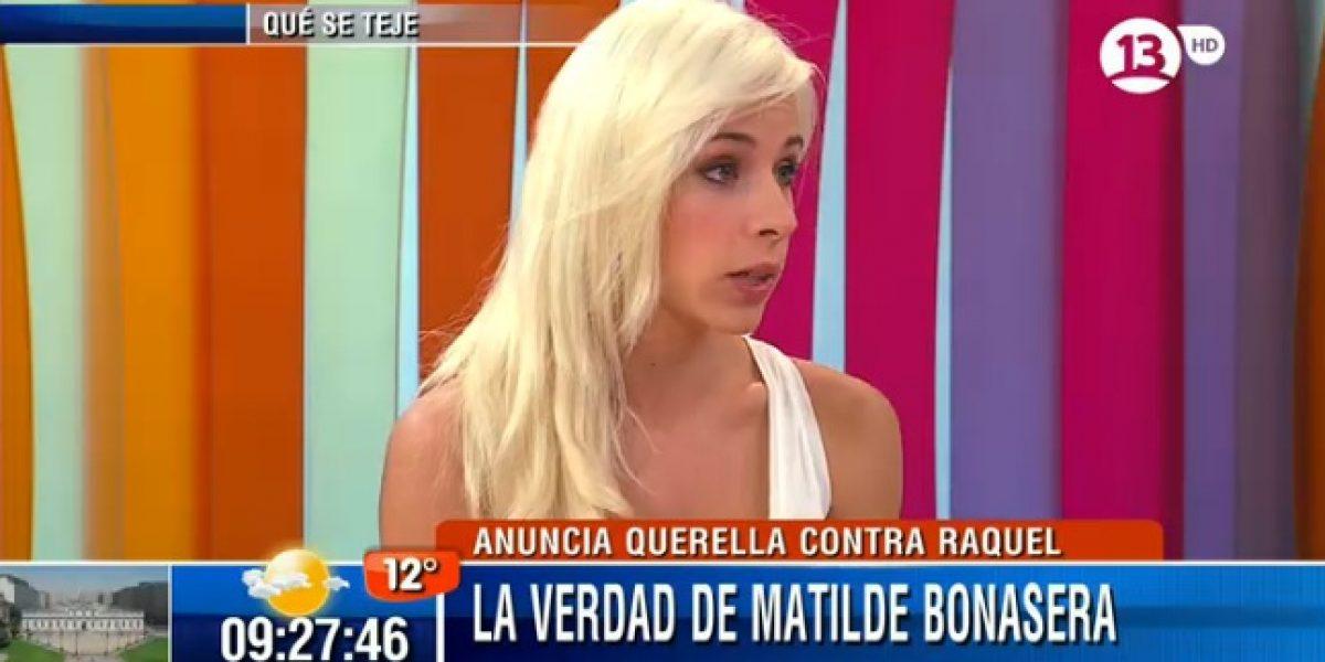 Matilde Bonasera por polémica con Hernancito: