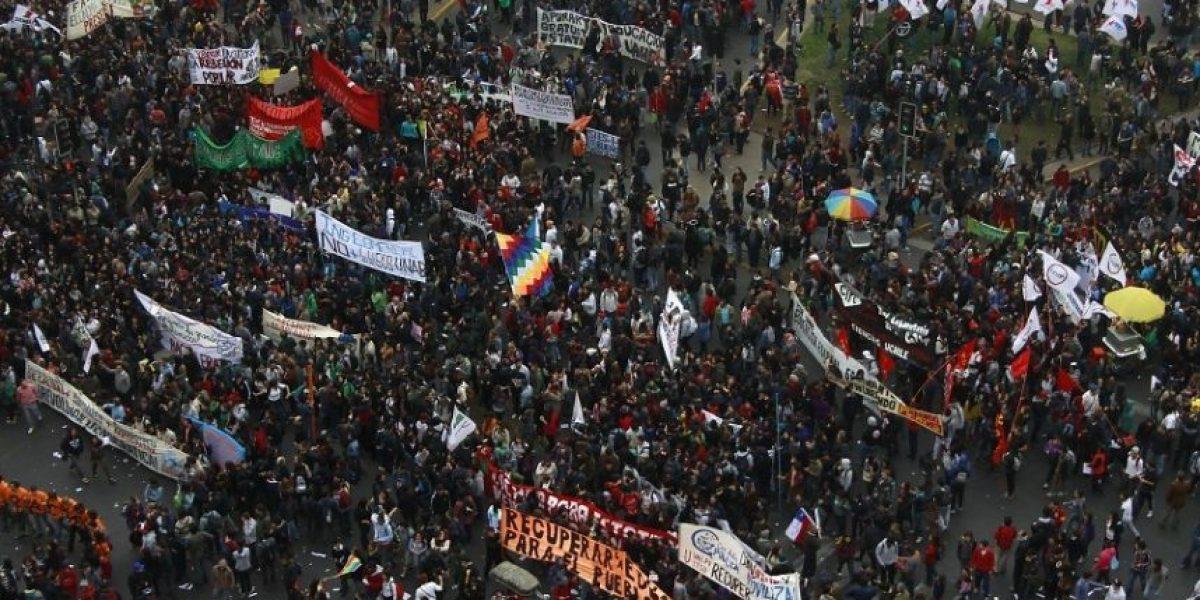 Imágenes de la marcha estudiantil del 11 de abril