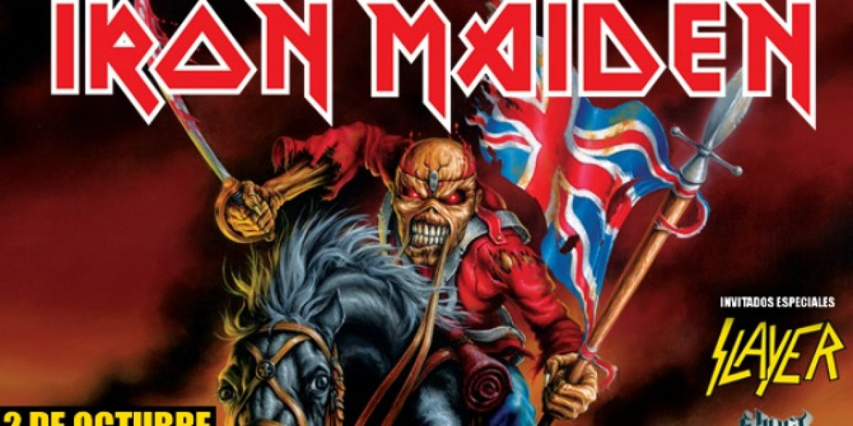 Iron Maiden y Slayer en Chile: 18 de abril comienza venta de tickets