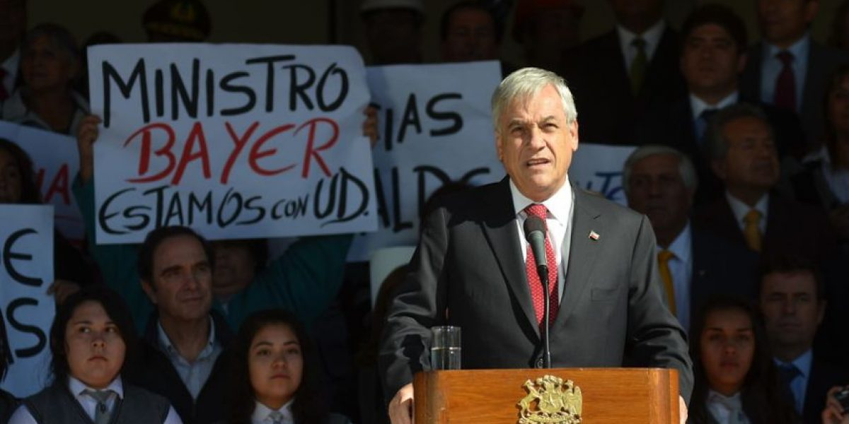 [FOTOS] Reciben a Piñera en Cauquenes con muestras de apoyo al ministro