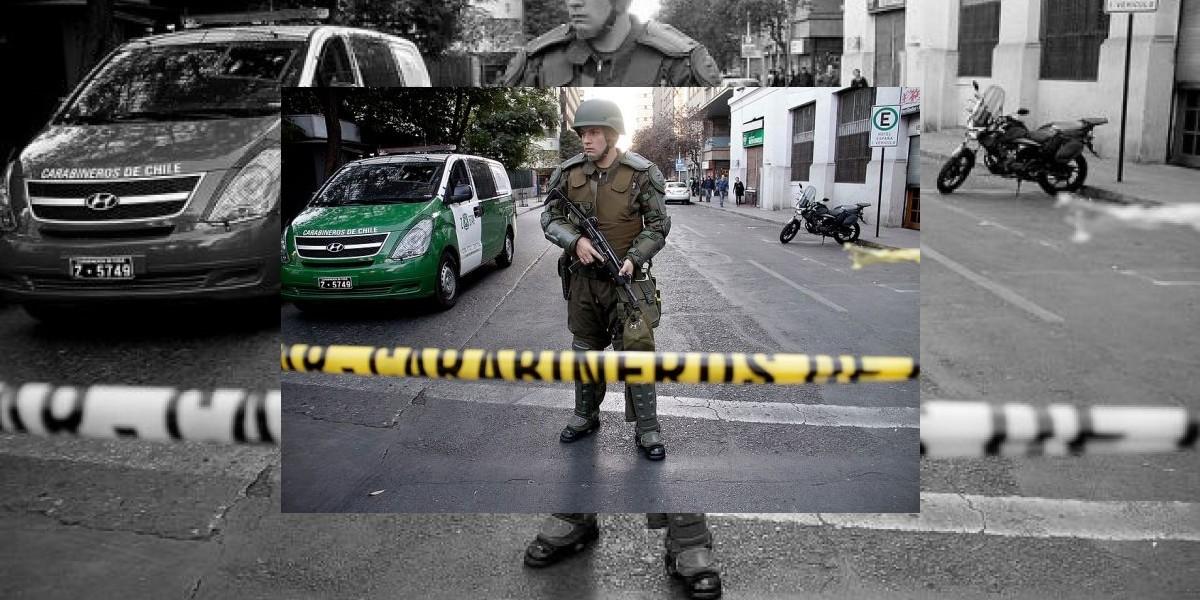 Ciudadano peruano con riesgo vital tras actuar de delincuentes en el centro de Santiago