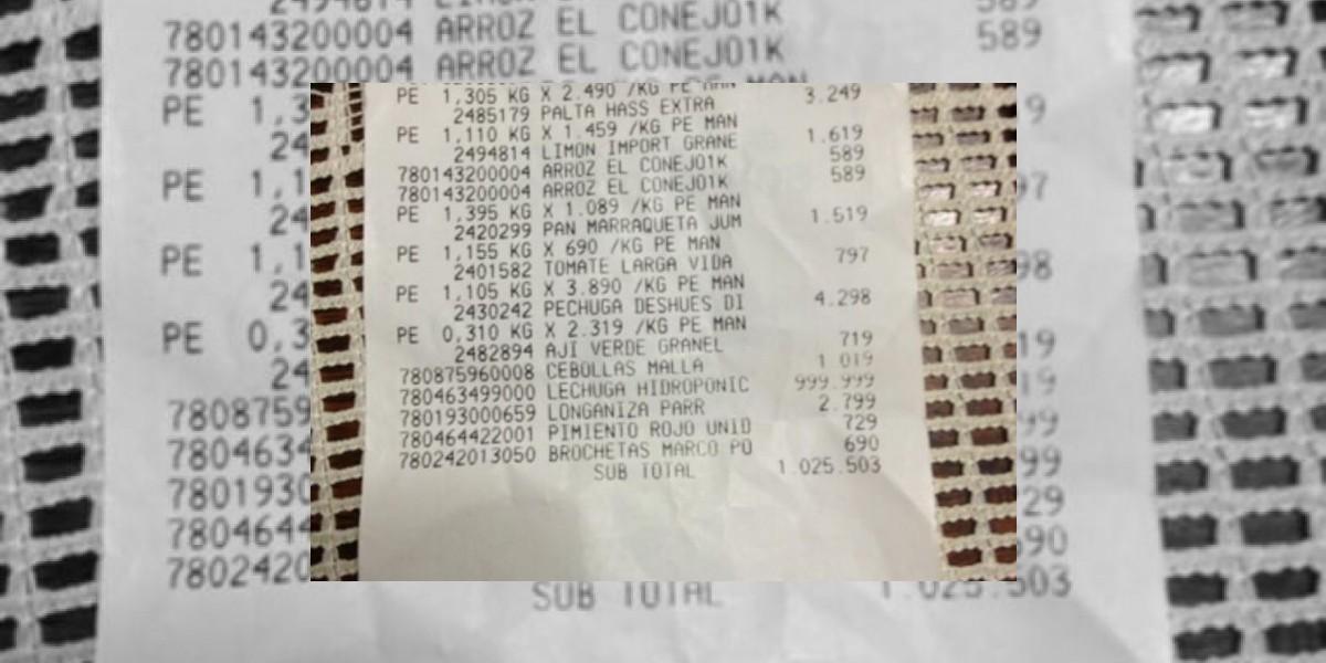 En Antofagasta un supermercado estaba cobrando $1 millón por una lechuga