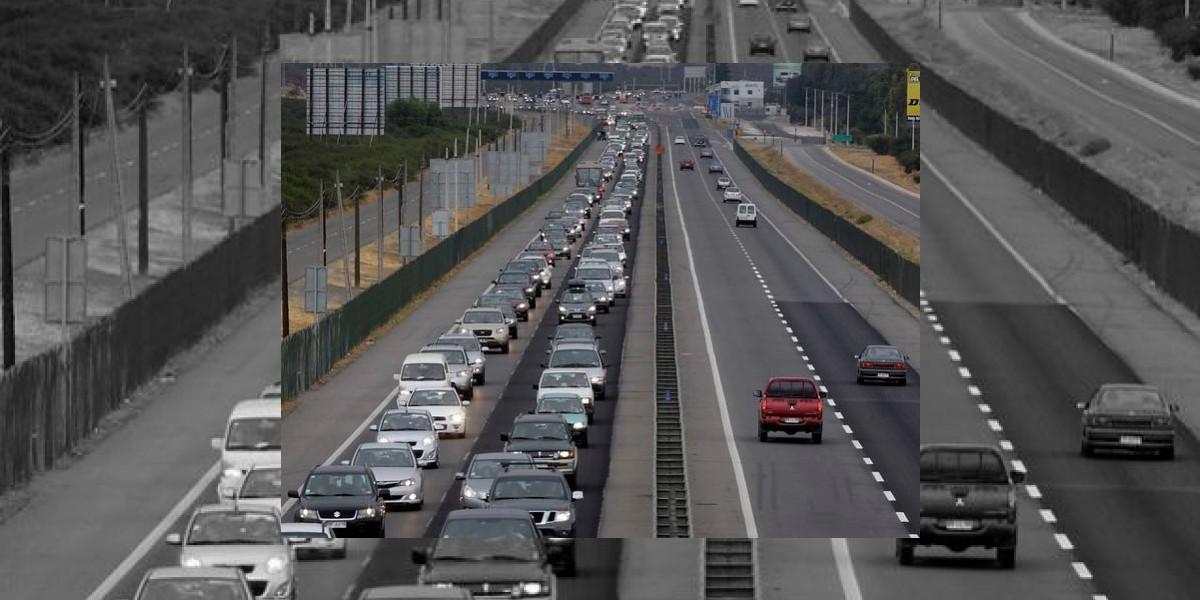 Incendio de bus al interior de túnel Lo Prado general gran congestión vehicular en Ruta 68