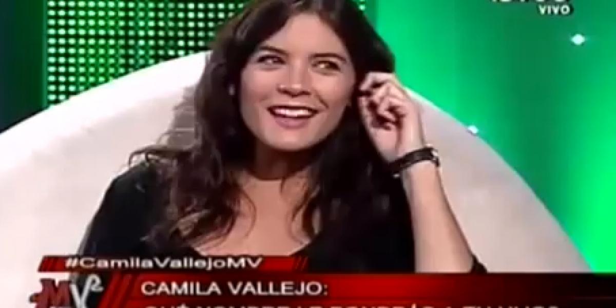 [VIDEO] Camila Vallejo en MV: Confirma sexo de su hijo y posibles nombres