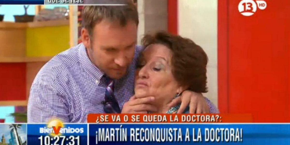 Dra. Cordero y Martín Cárcamo se reconcilian con