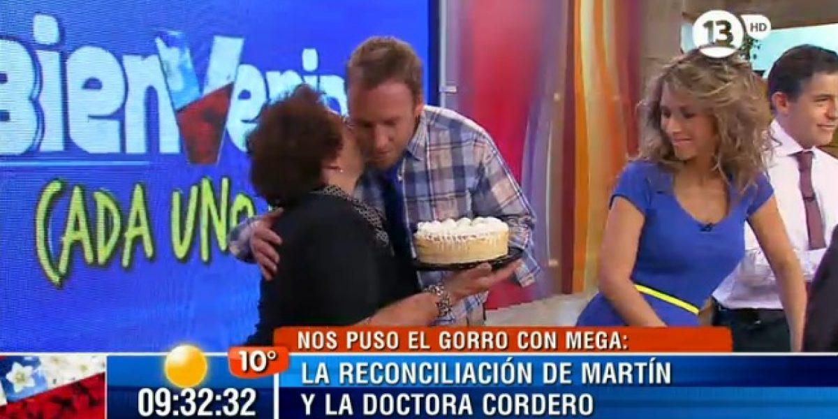 Siguen muestras de reconciliación entre Martín y la Dra. Cordero