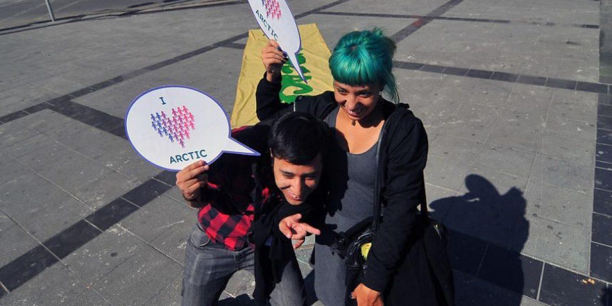 [FOTOS] Greenpeace Chile se sumó a acción mundial por el Ártico