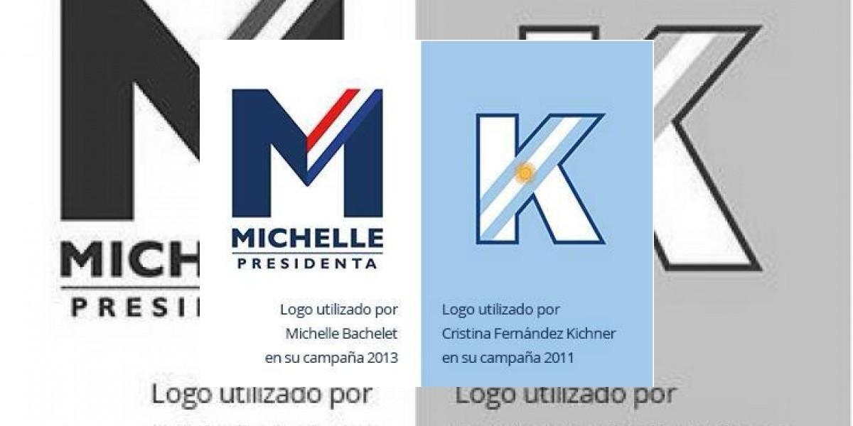 Logo de Bachelet es muy parecido al de Cristina Fernández del 2011