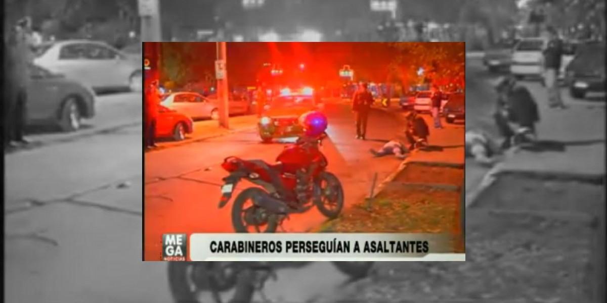 Radiopatrulla protagoniza accidente durante una persecución policial en Ñuñoa